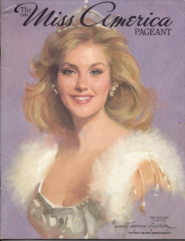 1986 Vintage Magazine Program: The Miss America Pageant 1986