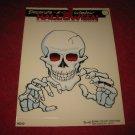 1988 Remmer 'Ghoul Friends' Halloween Window Decoration #HS-10: Skeleton- MISP
