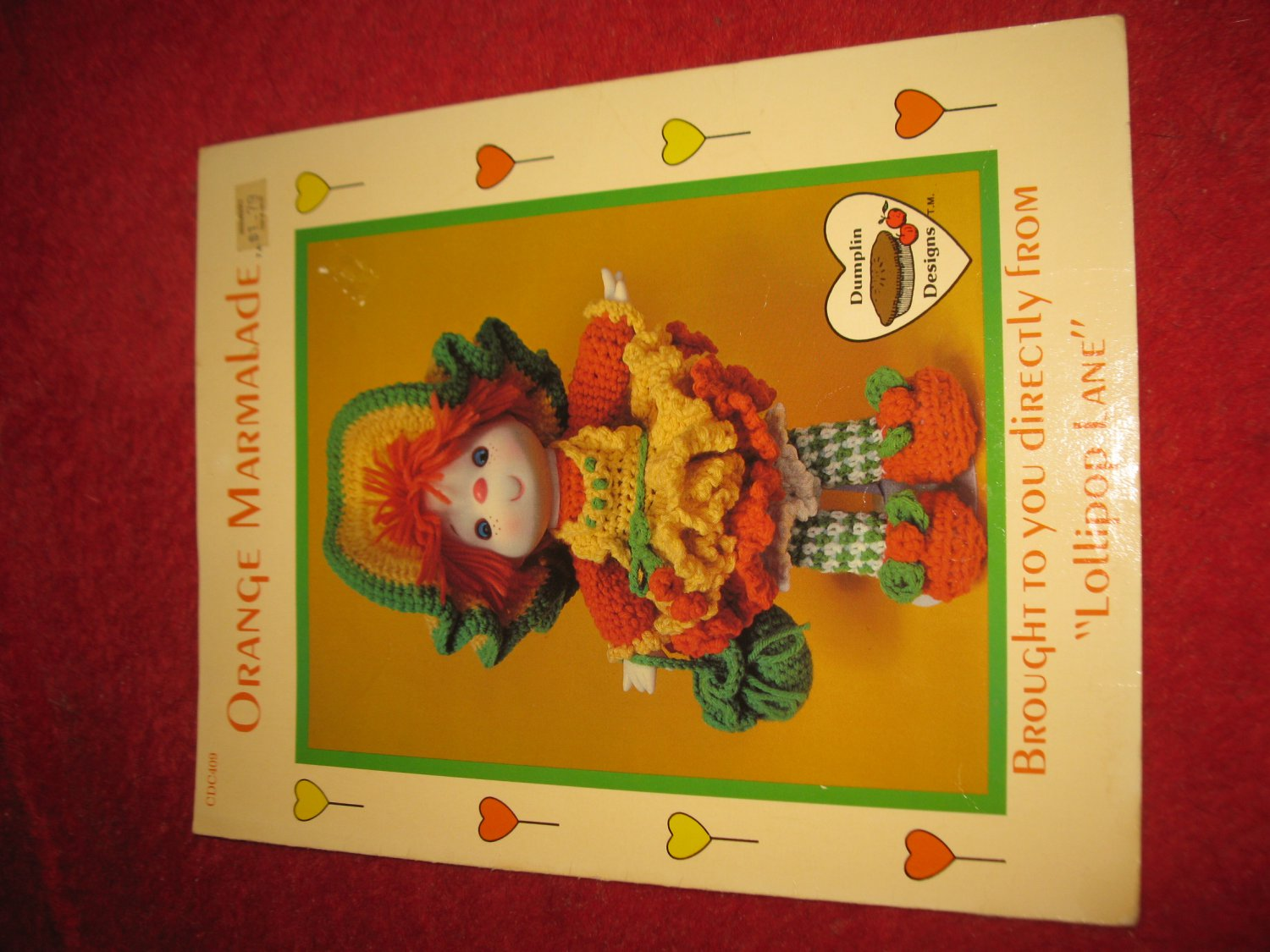 1984 Lollipop Lane 'Dumplin Designs' Doll pattern folder #CDC409: Orange Marmalade