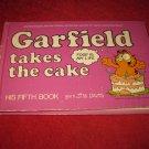 Rare 1982 Garfield Hardcover book #8: ..Takes the Cake