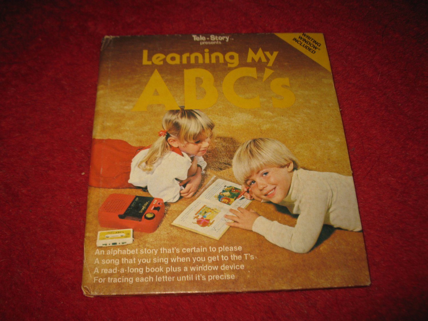 1981 Tele-Story Hardcover book #47-151 : Learning my ABC's