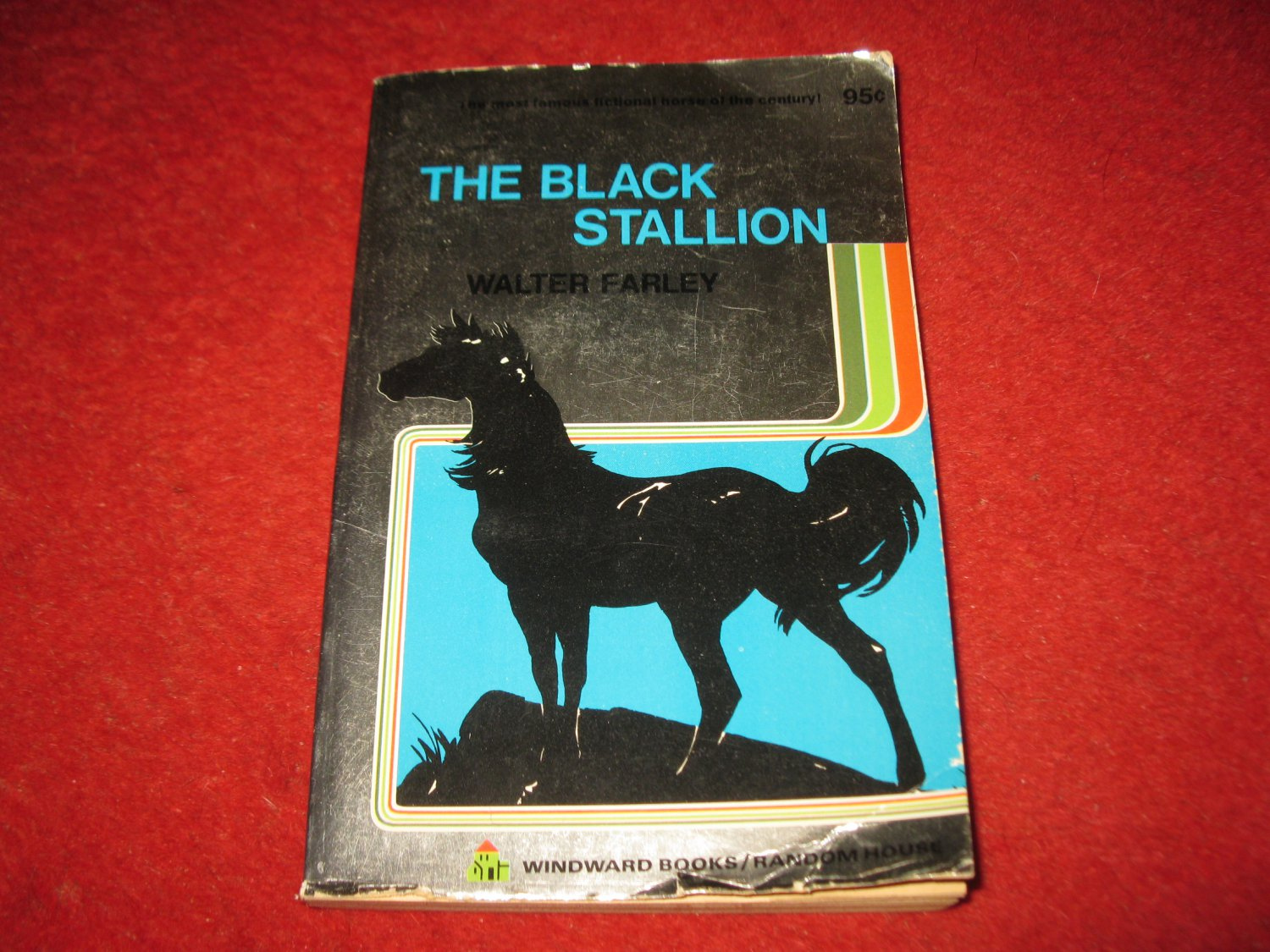 1972 Windward paperback book: The Black Stallion - by Walter Farley - special Silverback ed.