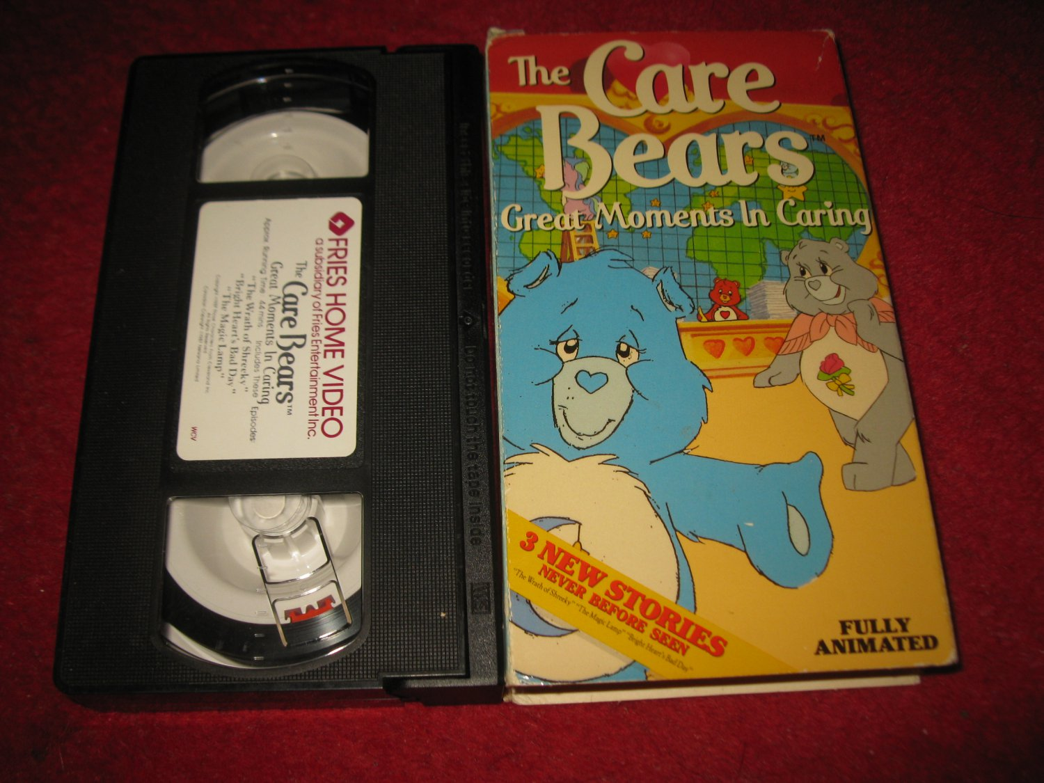 1987 The Care Bears VHS Movie : Great Moments in Caring