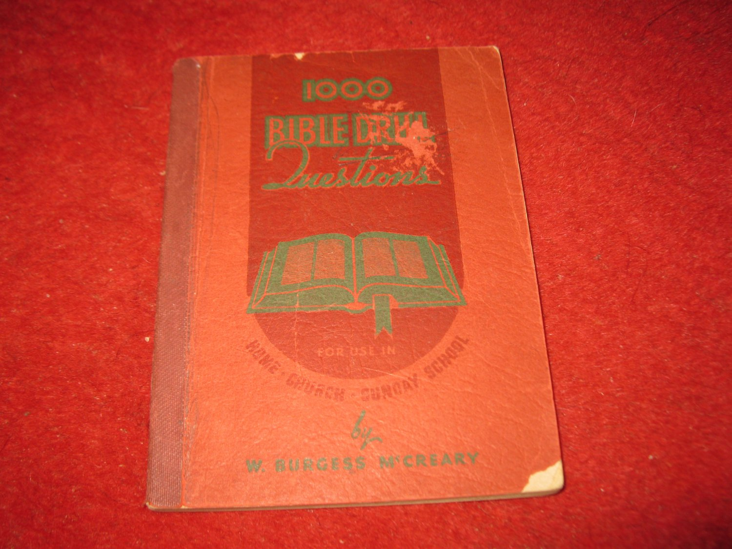 1926 Church book: 100 Bible Drill Questions - by W. Burgess McGreary- paperback
