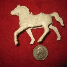 Vintage 1960's Miniature Cowboys Playset figure: Hollow body White Horse
