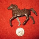Vintage 1950's Miniature Playset figure: Hollow Body Dark Brown Horse, needs Rider