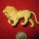 Vintage Miniature Playset figure: off white plastic lion