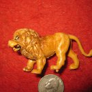 Vintage Miniature Playset figure: orange plastic lion