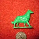 Vintage Marx..? Miniature Playset figure: Green Plastic Collie Sheep Herder dog