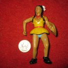 "Vintage Playset figure: Rare Painted Indian Woman, 4"" tall, moveable joints"