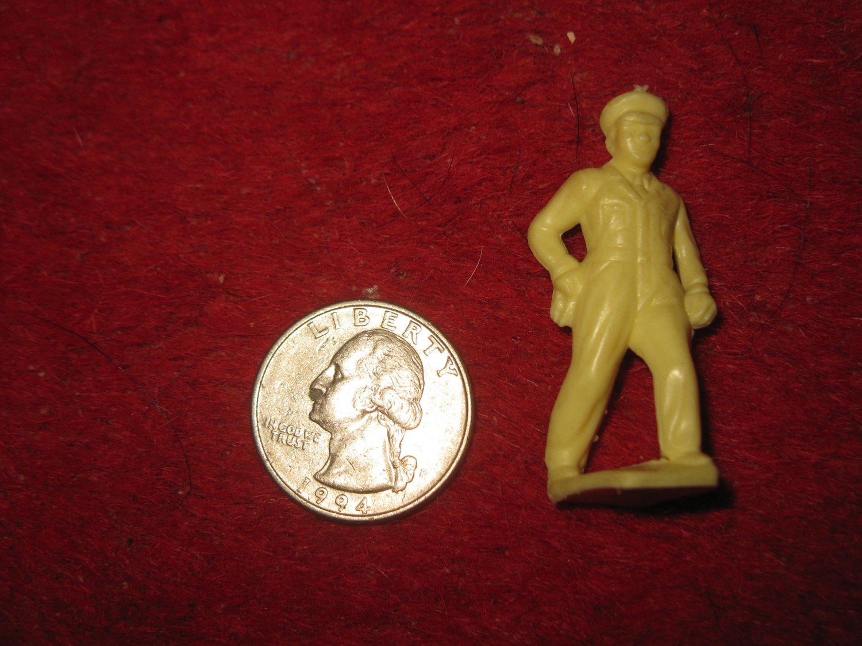 Vintage Miniature Playset figure: Rare off-white Gas Station Attendant