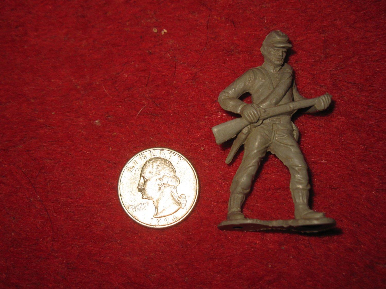 Vintage Marx Miniature Playset figure: Rare Gray Civil War Standing Soldier