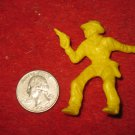 Vintage 1950's Miniature Playset figure: Yellow Cowboy w/ Pistol