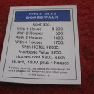 2004 Monopoly Board Game Piece: Boardwalk Title Deed