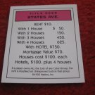 2004 Monopoly Board Game Piece: States Ave Title Deed