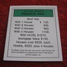 2004 Monopoly Board Game Piece: Pacific Ave Title Deed