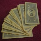 2004 Monopoly Board Game Piece: Stack of $500.00 Bills