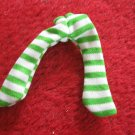 vintage 1980's Strawberry Shortcake Doll clothing accessory: green / white leggings