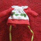 vintage 1980's Strawberry Shortcake Doll clothing accessory: Strawberry's Dress