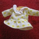vintage 1980's Strawberry Shortcake Doll clothing accessory: Yellow Polka Dot Dress