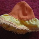 vintage 1980's Strawberry Shortcake Doll clothing accessory: Orange Hat