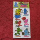 1983 Kent Toys Moodies Puffy Stickers (green top card)- Factory Sealed, Never Opened