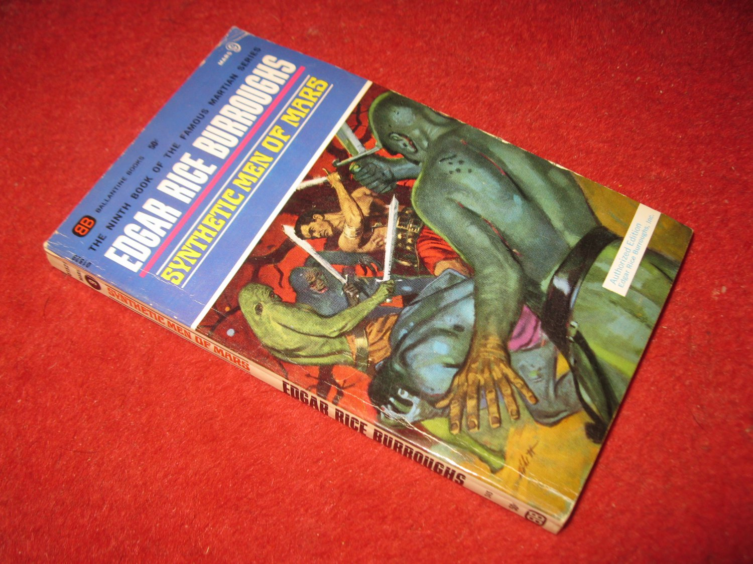 1969 Mars #9: Synthetic men of Mars - by Edgar Rice Burroughs - Ballantine books - paperback