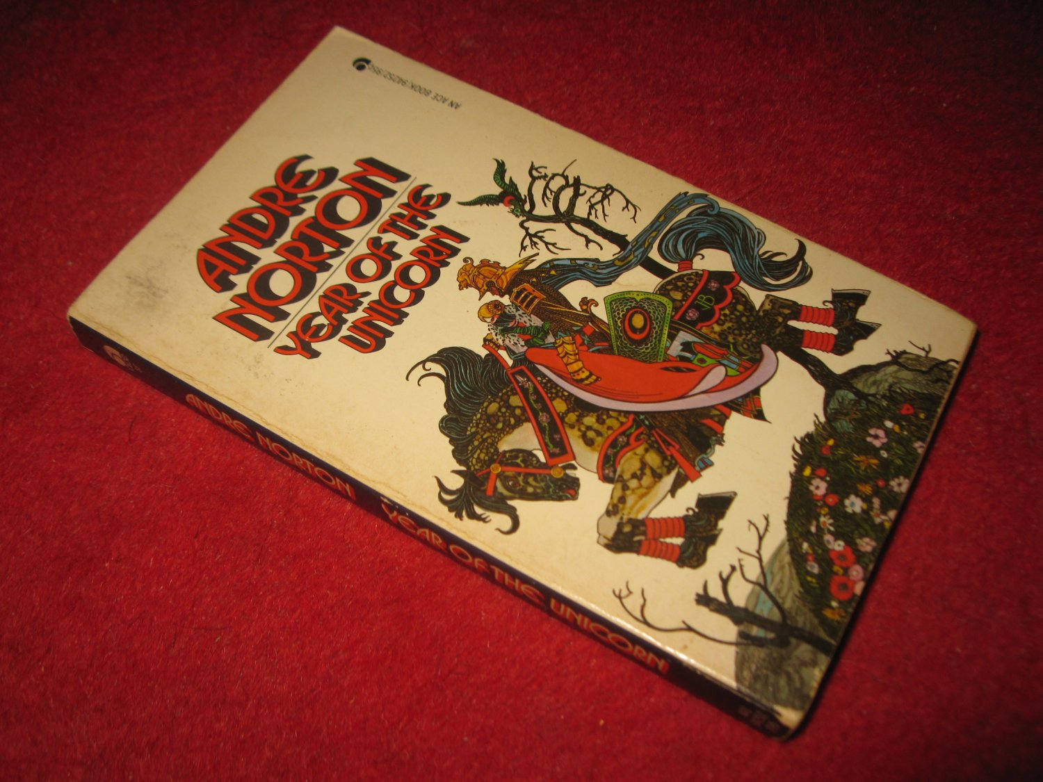 1965 Year of the Unicorn - by Andre Norton - Ace books - paperback
