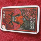 1981 DragonMaster Board game playing card: Bruno, Baron of Warriors
