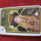 1981 DragonMaster Board game playing card: Della, Queen of Nomads