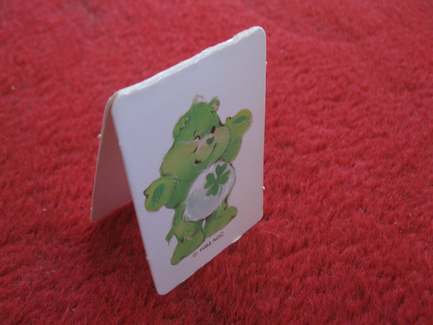 1984 Care Bears- Warm Feeling Board Game Replacement part: Good Luck Bear Pawn