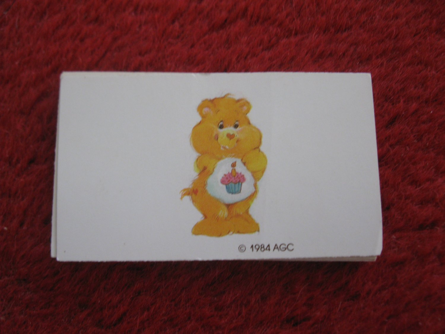 1984 Care Bears- Warm Feeling Board Game Replacement part: 1 bear card