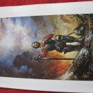 "vintage Boris Vallejo: Blood Red, Silver Rose - 11.5"" x 8.5"" Book Plate Print"