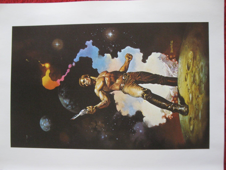 """vintage Boris Vallejo: Behind the Walls of Terra - 11.5"""" x 8.5"""" Book Plate Print"""