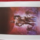 "vintage Boris Vallejo: A Guide to Barsoom - 11.5"" x 8.5"" Book Plate Print"