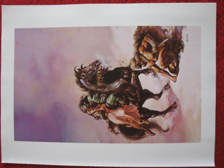 "vintage Boris Vallejo: The Broken Sword - 11.5"" x 8.5"" Book Plate Print"