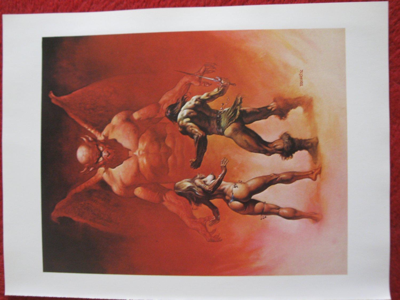 "vintage Boris Vallejo: In the Underworld - 11.5"" x 8.5"" Book Plate Print"