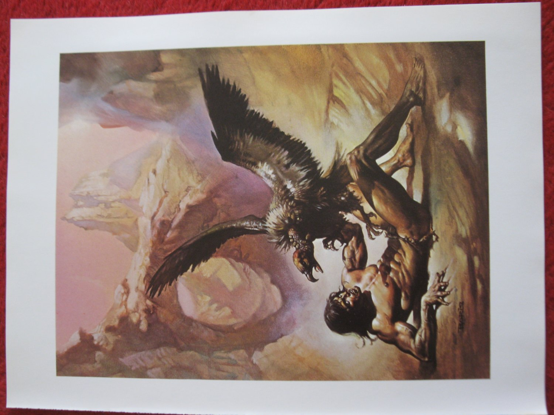 "vintage Boris Vallejo: Tarzan the Untamed - 11.5"" x 8.5"" Book Plate Print"
