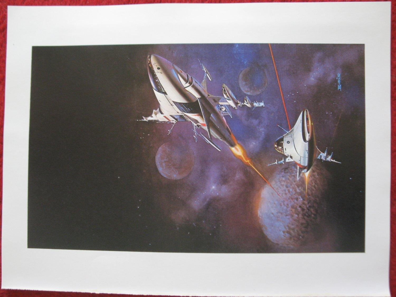 """vintage Boris Vallejo: Gateway - 11.5"""" x 8.5"""" Book Plate Print"""