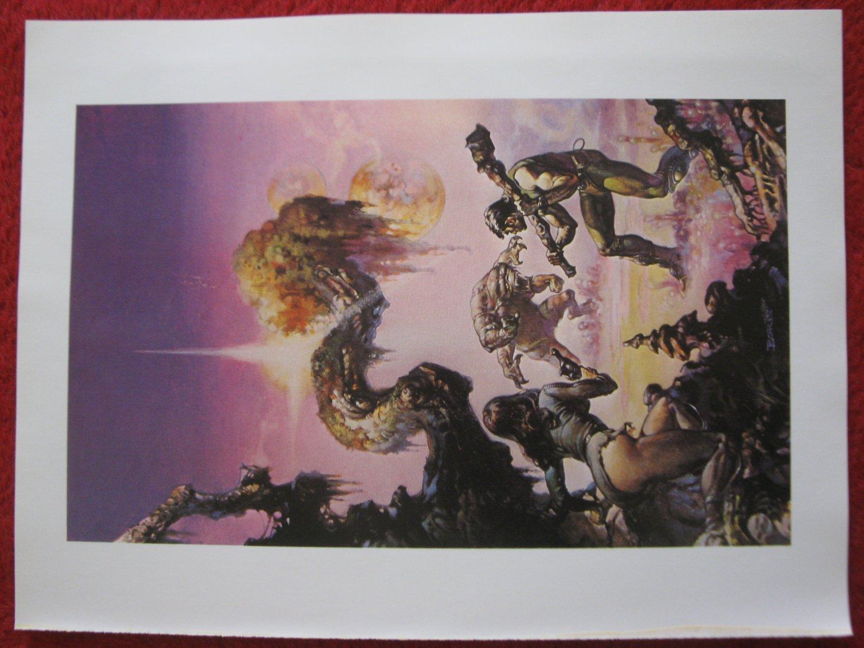 "vintage Boris Vallejo: Through the Reality Warp - 11.5"" x 8.5"" Book Plate Print"
