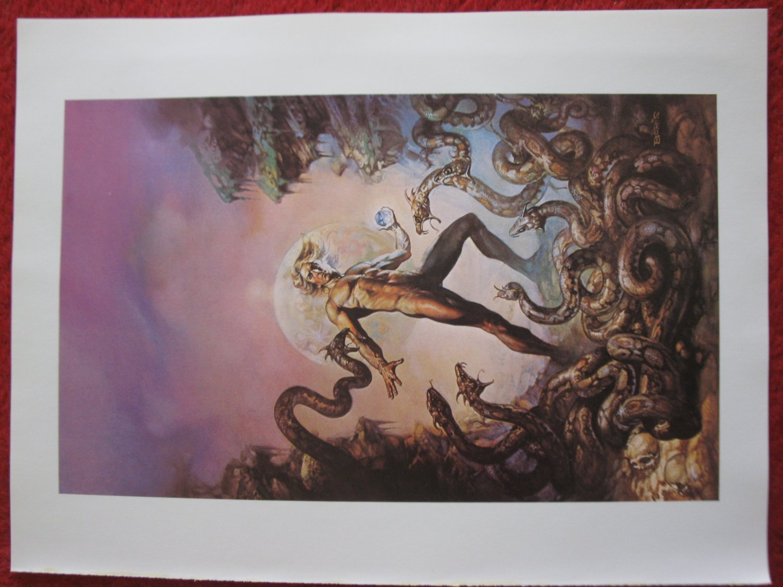 "vintage Boris Vallejo: The Secrets of Synchronocity - 11.5"" x 8.5"" Book Plate Print"