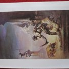 "vintage Boris Vallejo: I am a Barbarian - 11.5"" x 8.5"" Book Plate Print"