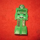 Vintage 1980's Tootsietoy Go-Bot Action Figure: Green Robot Whistle