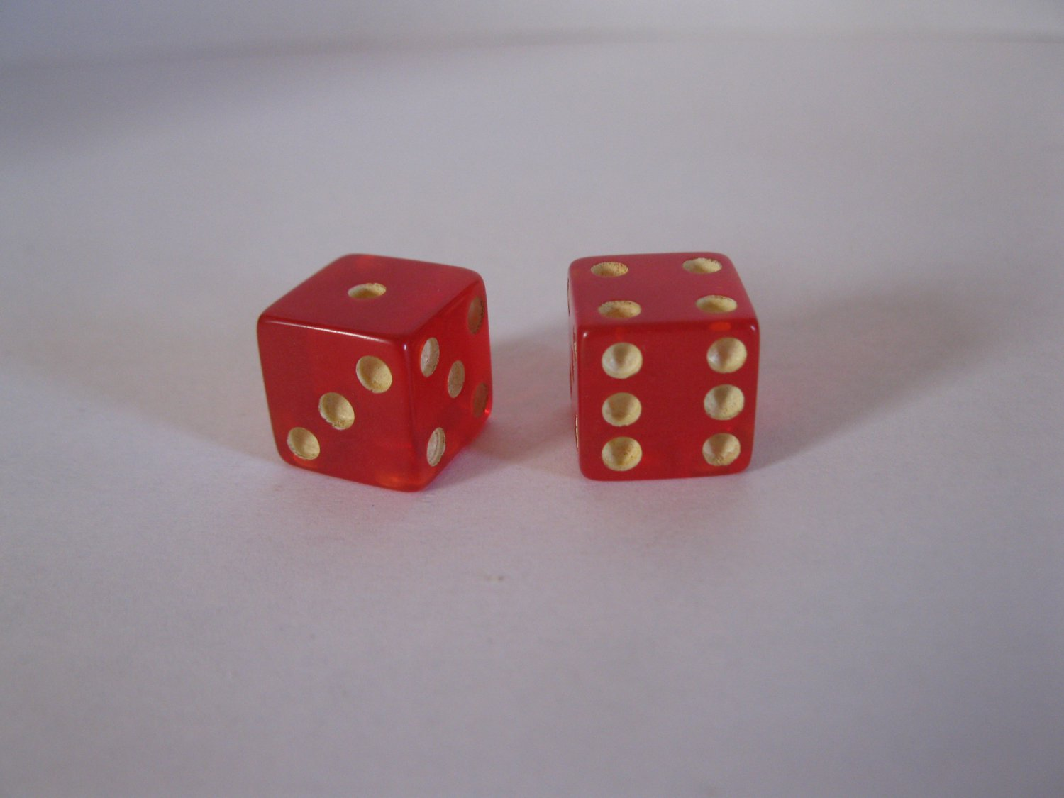 1965 Careers Board Game Piece: Red Dice Set