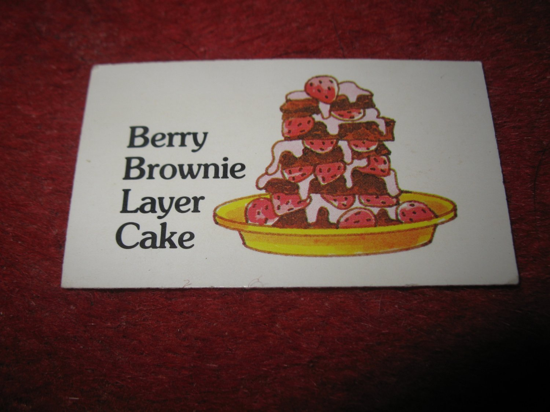 1983 Strawberry Shortcake Housewarming Surprise Board Game Piece: Recipe Card #7