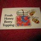 1983 Strawberry Shortcake Housewarming Surprise Board Game Piece: Recipe Card #8