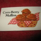 1983 Strawberry Shortcake Housewarming Surprise Board Game Piece: Recipe Card #11