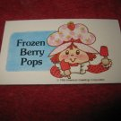 1983 Strawberry Shortcake Housewarming Surprise Board Game Piece: Recipe Card #12