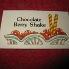 1983 Strawberry Shortcake Housewarming Surprise Board Game Piece: Recipe Card #14