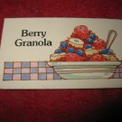 1983 Strawberry Shortcake Housewarming Surprise Board Game Piece: Recipe Card #15